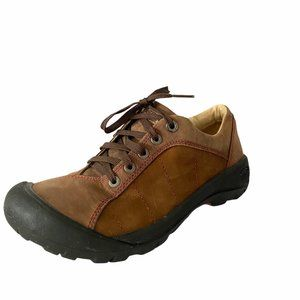 Keen Brown Leather Presidio Walking Hiking Shoes